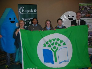 Receiving our sixth green flag in Athlone