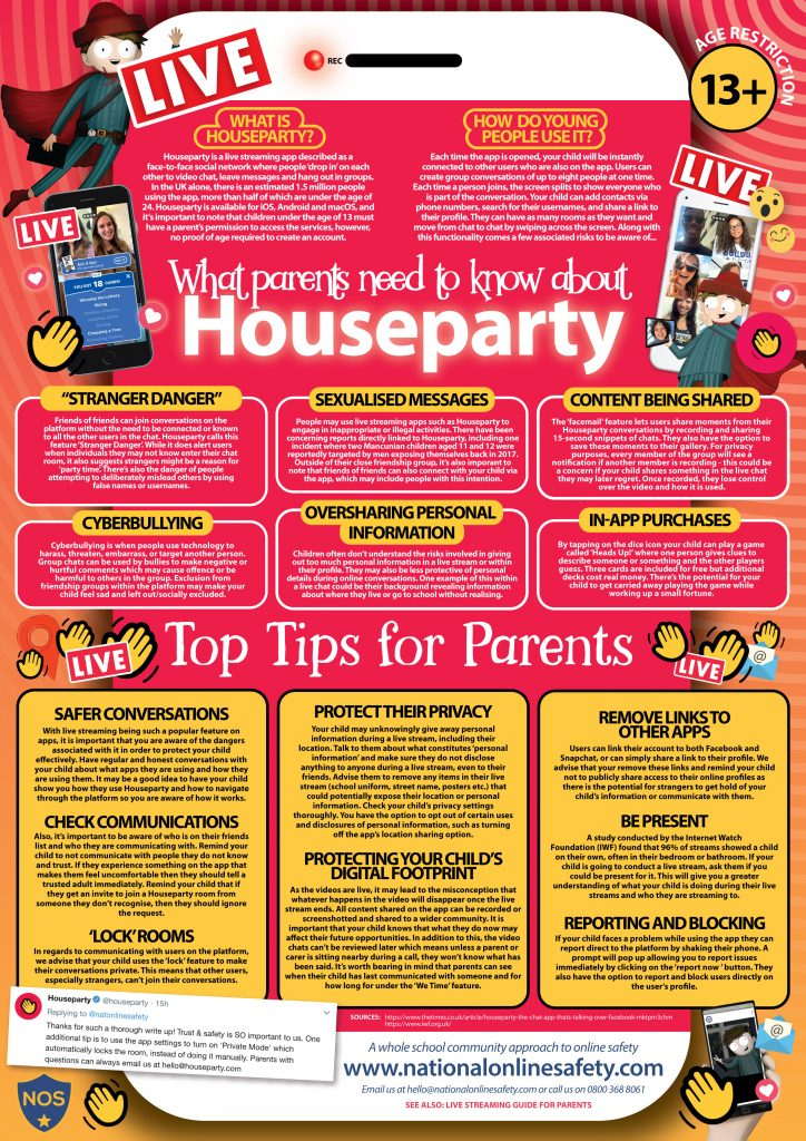 House Party Parents Guide February 2019 724x1024 - Internet Safety Guides