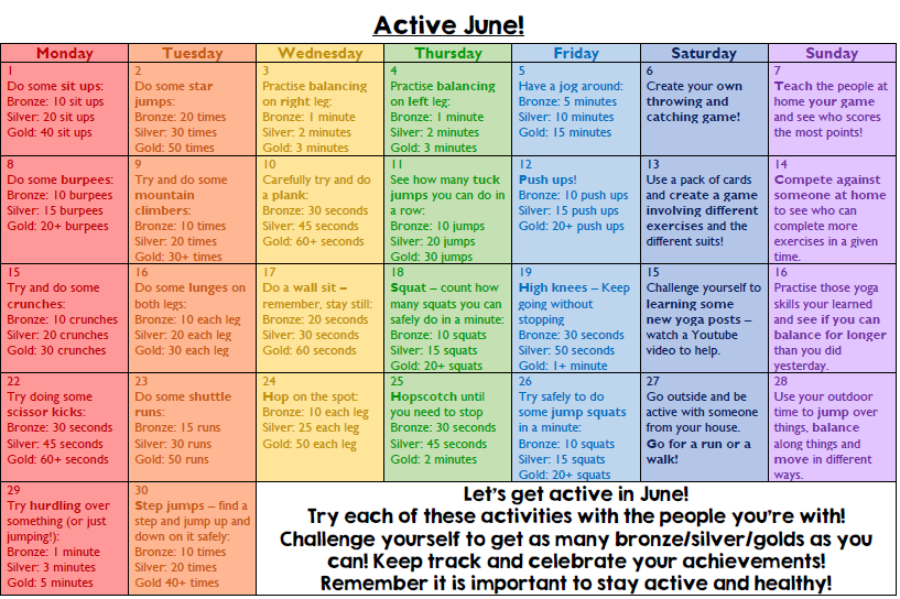 active pic june - Active Challenge for June