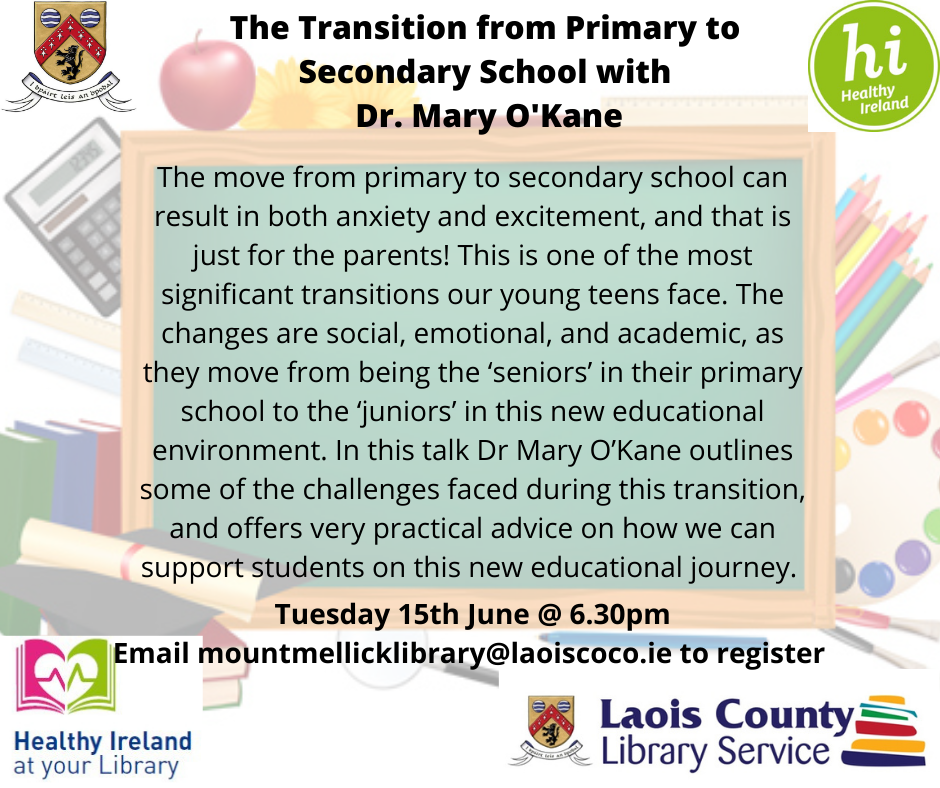 Transition from primary to secondary - The Transition from Primary to Secondary - Zoom Event