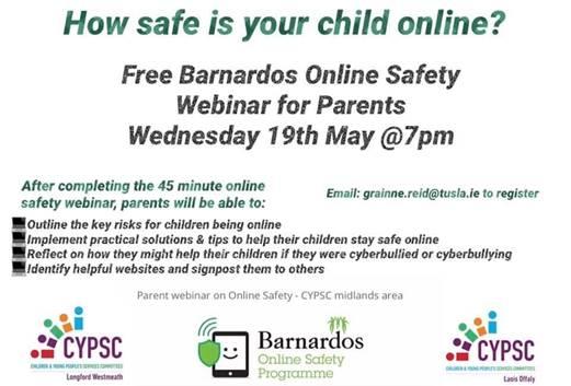 image001 - Free Online Safety Webinar for Parents